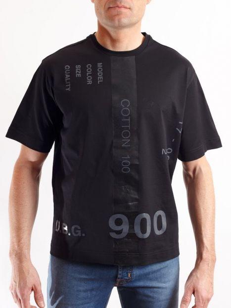 Camiseta Diesel Black Gold manga corta negra